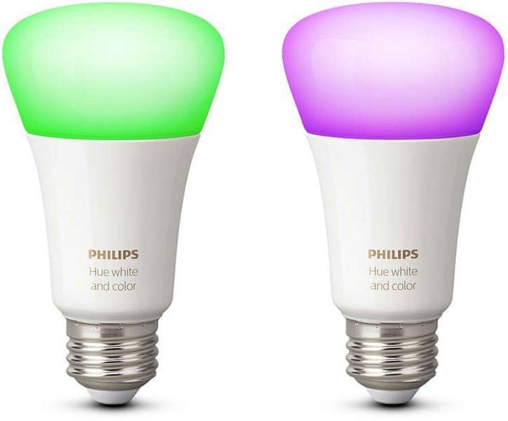Philips Hue žárovka 10W A19 E27 2Pack