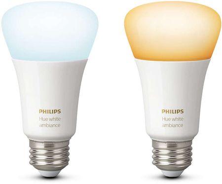 Philips żarówka Hue White Ambiance 9,5W A60 E27, 2 szt.