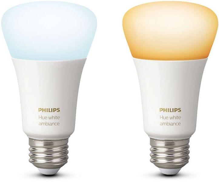 Philips Hue žárovka white ambiance 9.5W A60 E27 EU 2Pack