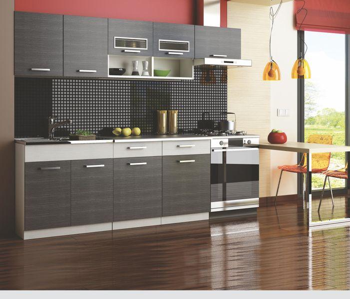 Kuchyně MORENO II 180/240 cm, šedá