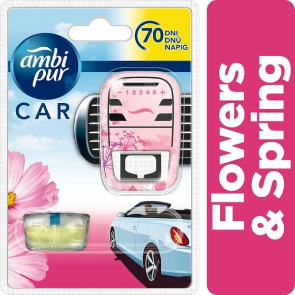 Ambi Pur Car strojek + náplň Flowers & Spring 7 ml