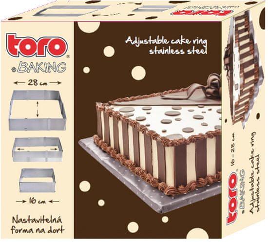 Toro Forma na dort nastavitelná hranatá, 16-28 cm