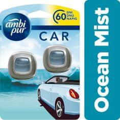 Ambi Pur Car Ocean Mist Připínací osvěžovač vzduchu do auta 2 ks