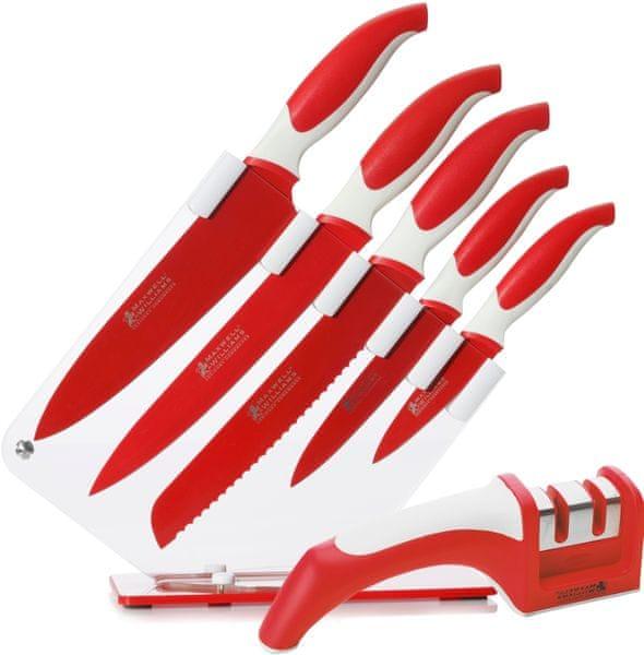 Maxwell & Williams Sada 5 nožů ve stojanu + Brousek na nože