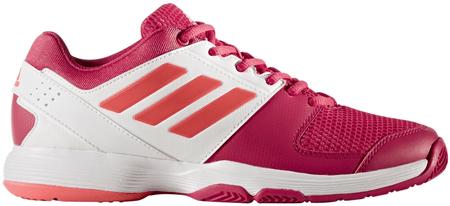 Adidas ženski teniški copati Barricade Court, roza/koralno/beli, 42,7
