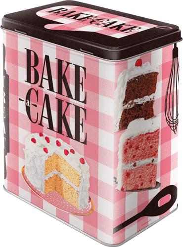 Postershop Plechová dóza L Bake a Cake