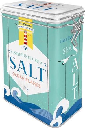 Postershop Plechová dóza s klipem Salt