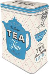 Postershop puszka metalowa z klipsem Tea Time