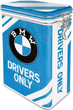 Postershop Plechová dóza s klipem BMW Drivers Only
