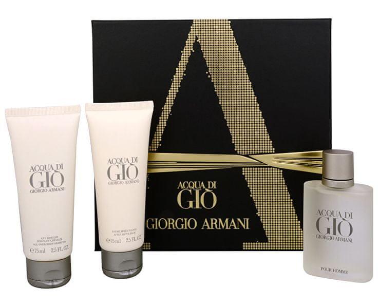 Giorgio Armani Acqua Di Gio Pour Homme - EDT 50 ml + sprchový gel 75 ml + balzám po holení 75 ml