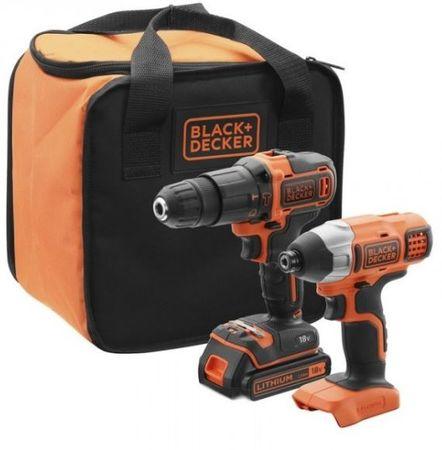 Black+Decker akumulatorski set orodja BCK21S1S, 2-delni