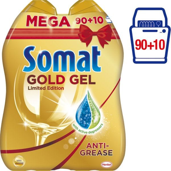 Somat Gold gel Anti-Grease 2x 1000 ml (90+10 mytí)