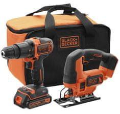 Black+Decker Akumulatorski vrtalnik + vbodna žaga 18V BCK22S1S-QW - Odprta embalaža