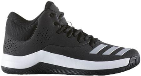 Adidas moški športni copati Court Fury 2017, črno/sivo/beli, 46,0