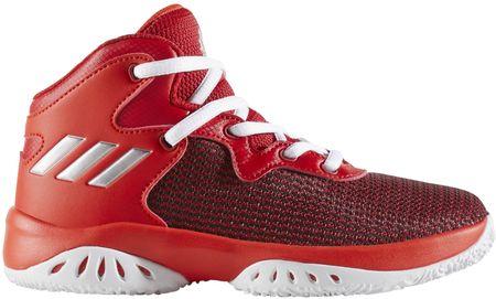 Adidas otroški športni copati Explosive Bounce C, rdeče/srebrni, 33,5