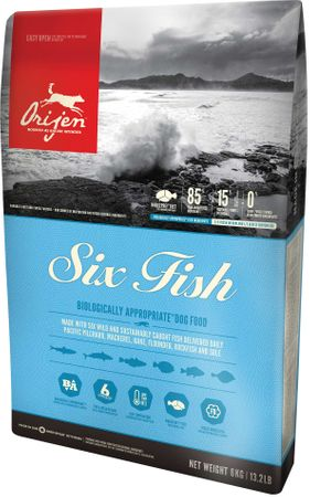 Orijen hrana za pse, Six Fish Dog, 11,4 kg