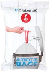 Brabantia PerfectFit vreča za odpadke, Dispenser, Y 20L, 40 kos