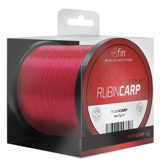 FIN Vlasec Rubin Carp Červená 1000 m 0,37 mm, 25,6 lb