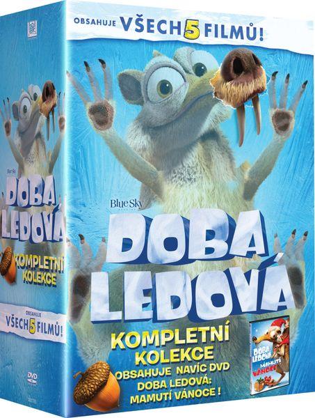 Kolekce Doba ledová 1-5 + Doba ledová: Mamutí Vánoce (6DVD) - DVD
