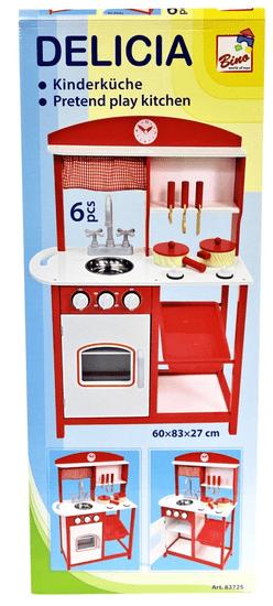 Bino aneks kuchenny dziecięcy, z akcesoriami 5 szt
