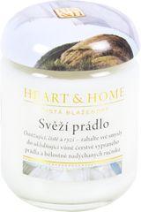 Albi Heart & Home malá svíčka Svěží prádlo