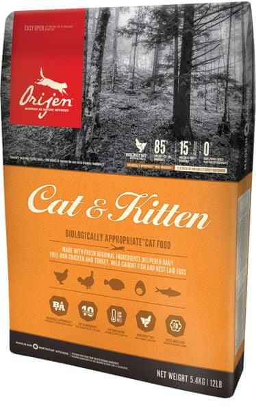 Orijen Cat and Kitten 5,4 kg