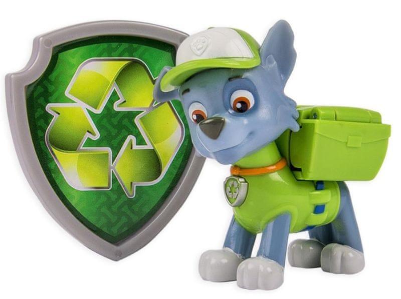 Spin Master Paw Patrol Figurka s akčním batohem Rocky