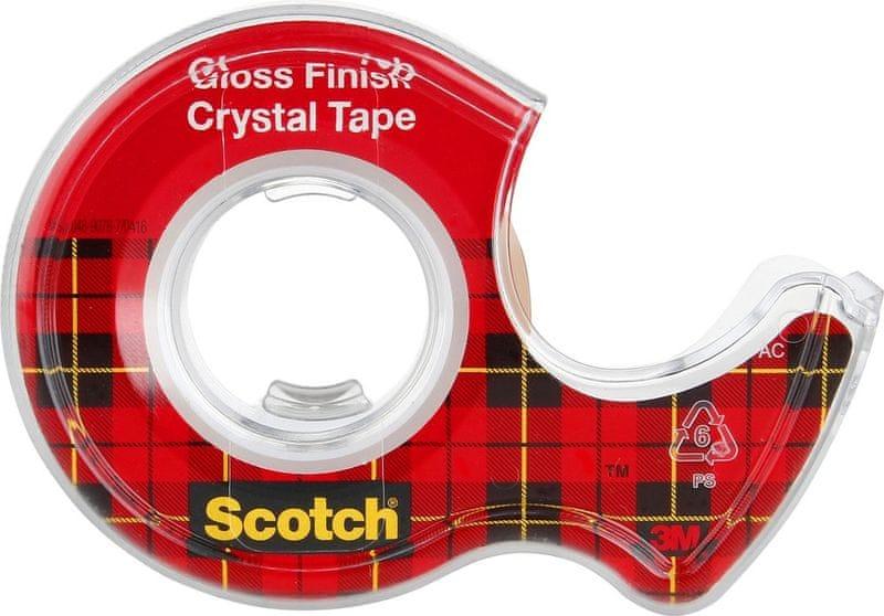 Lepicí páska s odvíječem 19 mm x 7,5 m Crystal SCOTCH