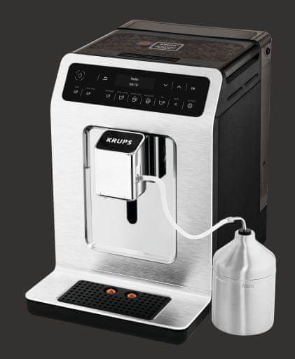 Krups automatický kávovar Evidence EA891C10 Chrom + nádržka na mléko - zánovní