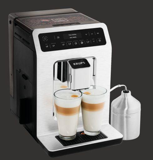 Krups Automatický Kávovar Evidence EA891C10 Chrom + nádržka na mléko