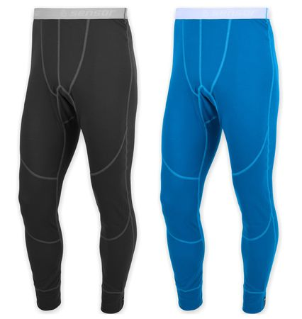 Sensor muške donje hlače Wool Active set, M, crne + plave