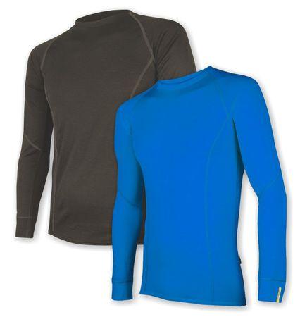 Sensor moška majica Wool Active set, dl. ročno, M, črna/modra