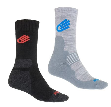 Sensor skarpetki Expedition Merino Wool 2-pack Black/Gray/Red 6-8