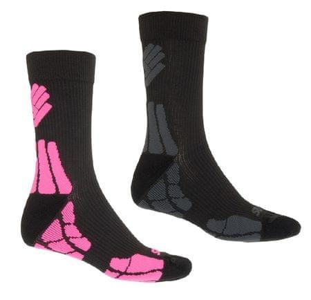 Sensor skarpetki Hiking Merino Wool 2-pack Black/Gray/Pink 3-5