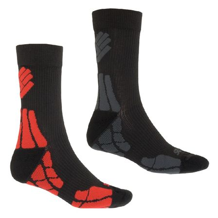 Sensor skarpetki Hiking Merino Wool 2-pack Black/Gray/Red 6-8