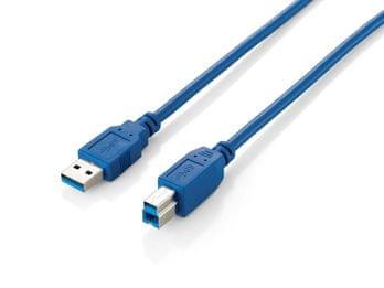 Equip kabel USB 3.0 A v B, 1m, moder