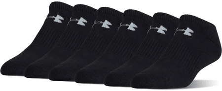 Under Armour Charged Cotton 2.0 Noshow Black Gray L
