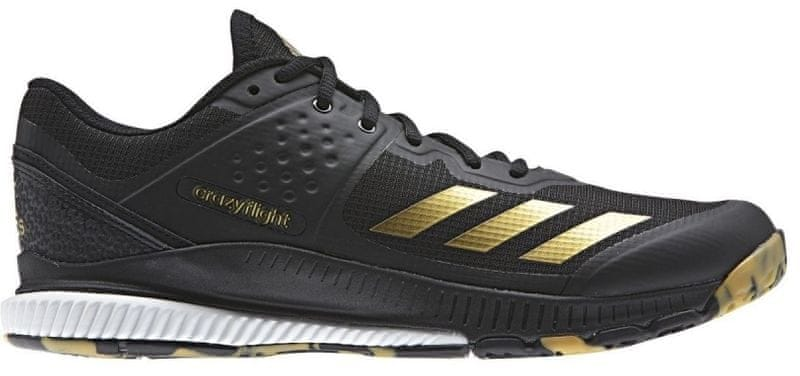 16669ab0905 Adidas Crazyflight Bounce Core Black Gold Met. Ftwr White 41.3