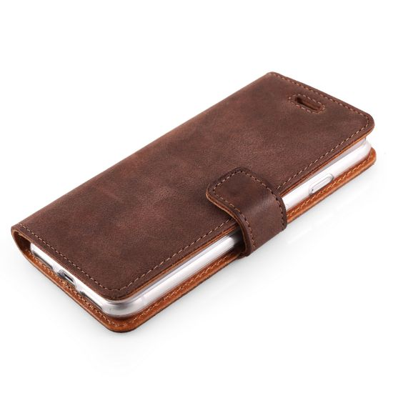 Surazo Onasi preklopna torbica za iPhone 8, rjava