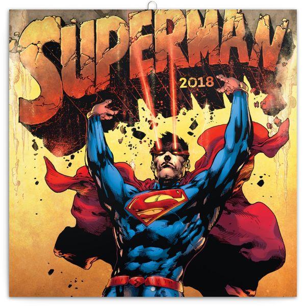 Poznámkový kalendář Superman 2018
