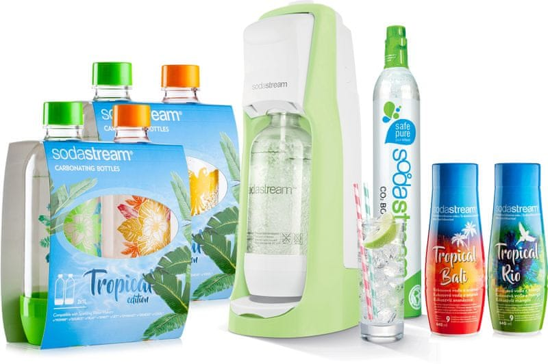 Sodastream JET Grass Green Tropical Edition 4+2