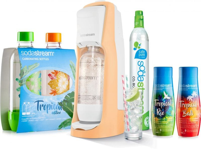 Sodastream JET Orange Tropical Edition Prales 2+2