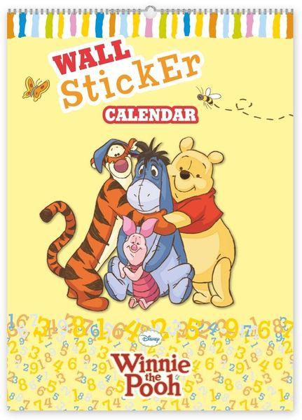 W. Disney Medvídek Pú - kalendář se samolepkami na zeď