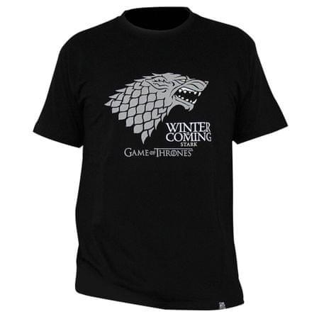 "Tričko Game of Thrones - ""Winter is coming"" pánské, černé M"