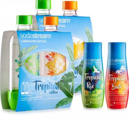 Sodastream Sada 4ks láhví Tropical Edition Prales / Ostrov + příchutě Ananas-Kokos a Mango-Kokos