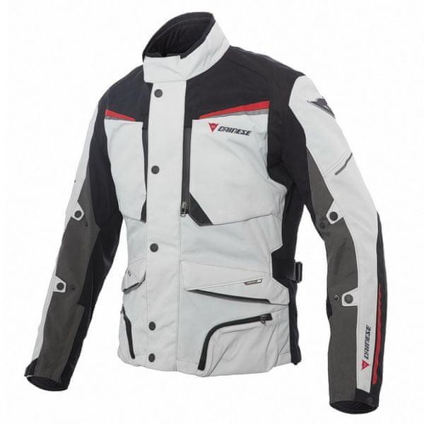 Dainese bunda SANDSTORM GORE-TEX vel.56 světle šedá/černá/červená, textilní