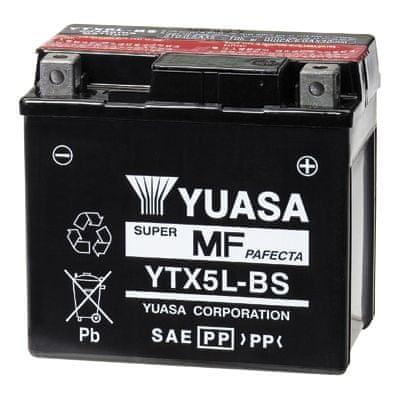 Yuasa baterie 12V 4Ah YTX5L-BS (dodáváno s kyselinovou náplní)