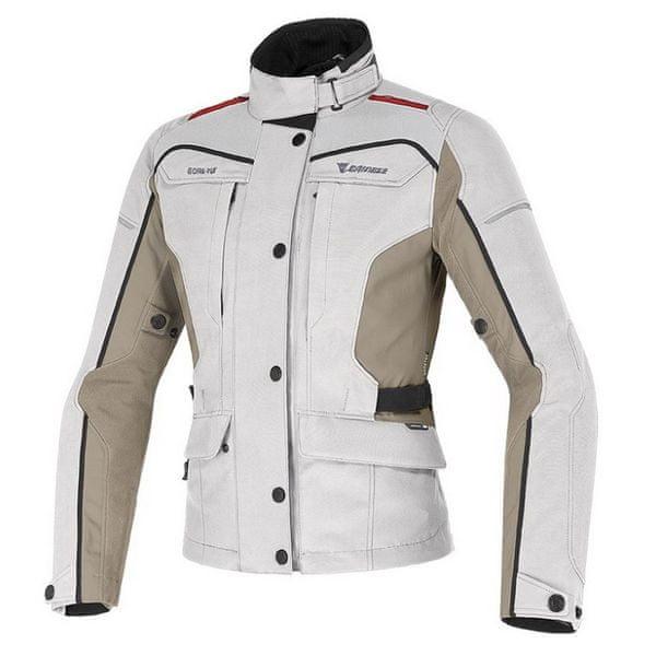 Dainese bunda dámská ZIMA LADY GORE-TEX vel.42 světle šedá/béžová/červená textil