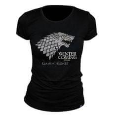 "Tričko Game of Thrones - ""Winter is coming"" dámské, černé L"