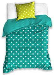 BedTex bombažna posteljnina Spot, turkizno-zelena, 140x200